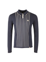 Center Striped Knitted Polo
