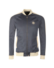 Pretty Green Mens Blue Contrast Panel Track Top