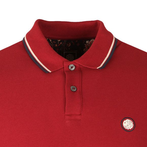 Pretty Green Mens Red S/S Barton Tipped Polo main image