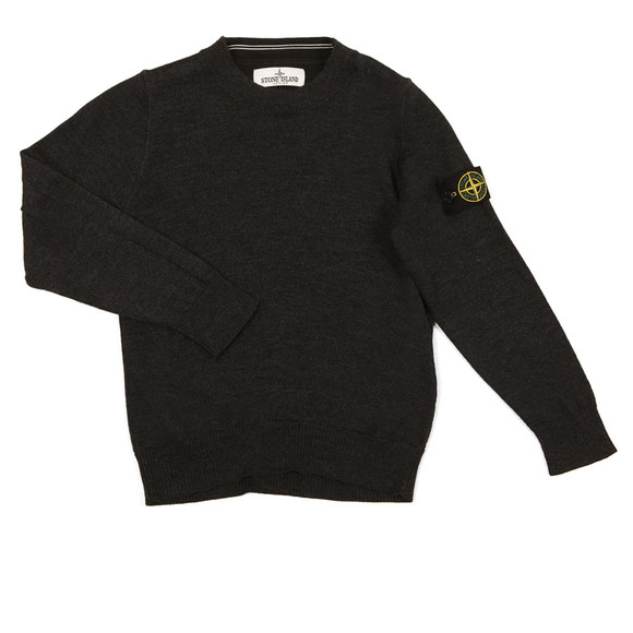 Stone Island Junior  Boys Grey Crew Neck Jumper main image