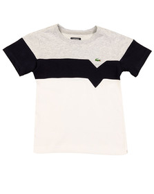 Lacoste Sport Boys White Boys TJ8818 Panel T Shirt