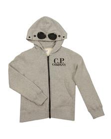C.P. Company Undersixteen Boys Grey Full Zip Goggle Hoody