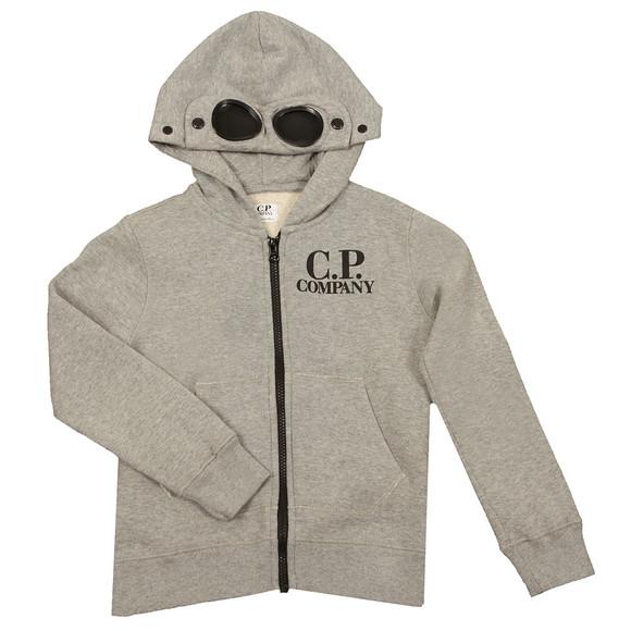 C.P. Company Undersixteen Boys Grey Full Zip Goggle Hoody main image