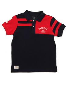 Hackett Boys Blue Stripe PCD Polo Shirt