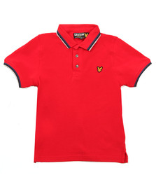 Lyle And Scott Junior Boys Red Plain Tipped Polo Shirt