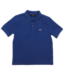 Boss Boys Blue J25B75 Square Logo Polo