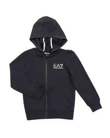 EA7 Emporio Armani Boys Blue Boys Small Logo Full Zip Hoody