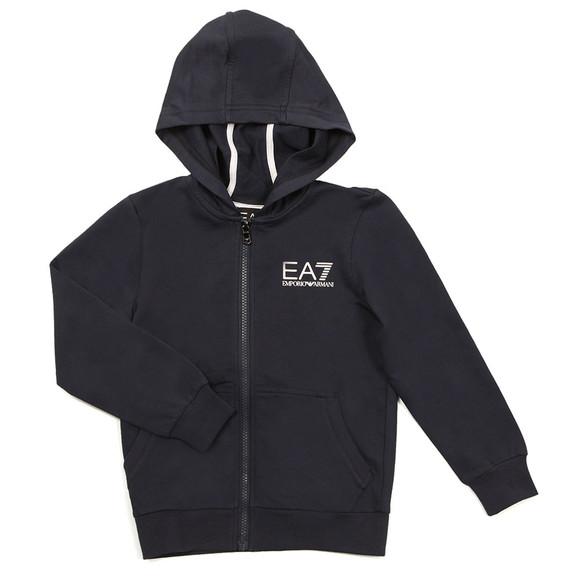 EA7 Emporio Armani Boys Blue Boys Small Logo Full Zip Hoody main image
