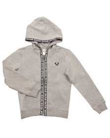 True Religion Boys Grey TR Tape Hoody