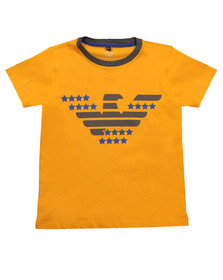 Armani Junior  Boys Orange Logo T Shirt