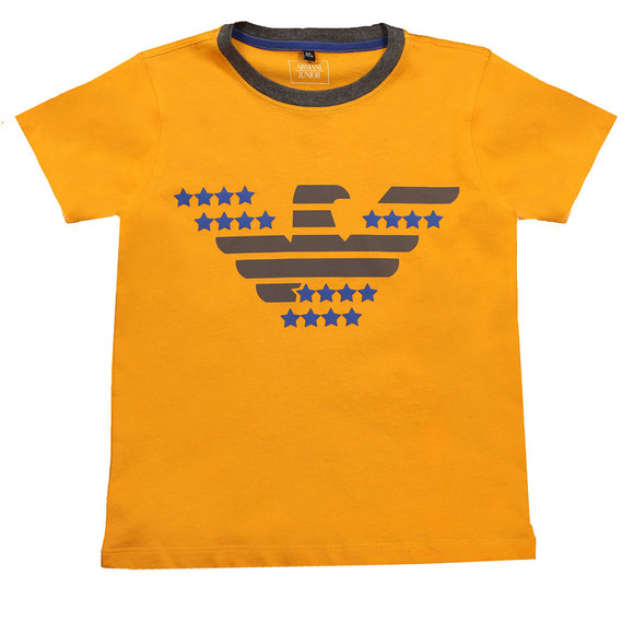 Armani Junior  Boys Orange Logo T Shirt main image