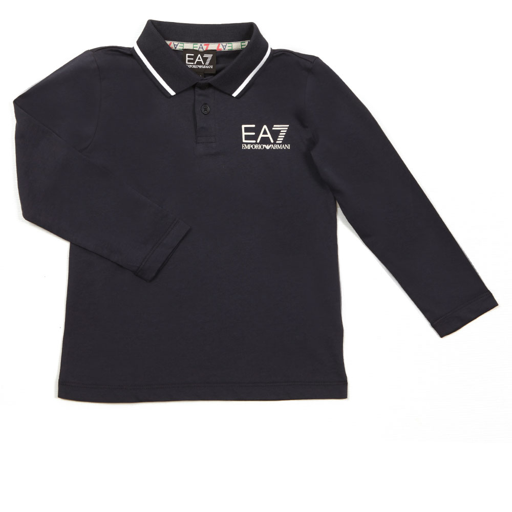Tipped Long Sleeve Polo Shirt main image