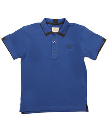 Armani Junior  Boys Blue Tipped Polo Shirt