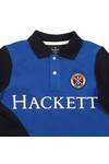 Hackett Boys Blue Long Sleeve Cross Polo Shirt