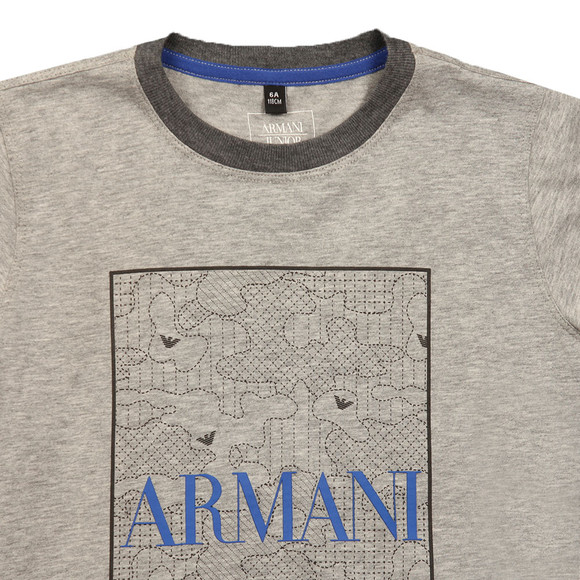Armani Junior  Boys Grey Logo T Shirt main image