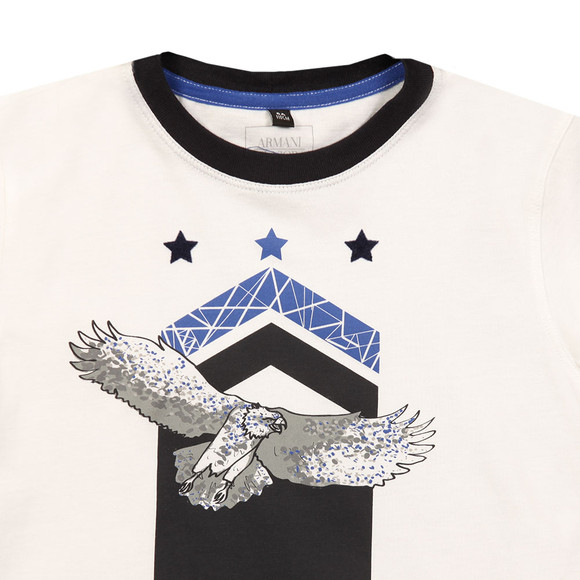Armani Junior  Boys White Logo T Shirt main image