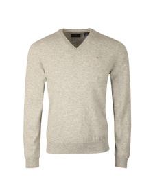 Gant Mens Grey V-Neck jumper