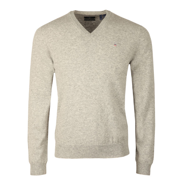 Gant Mens Grey V-Neck jumper main image