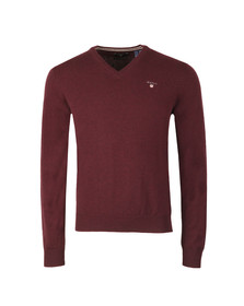 Gant Mens Purple V-Neck jumper
