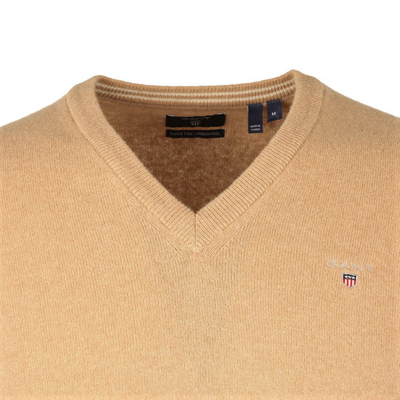 Gant Mens Beige V-Neck jumper main image
