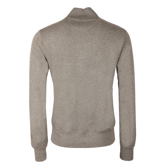 Gant Mens Grey Sacker Rib Half Zip Sweat main image
