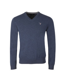 Gant Mens Blue V-Neck jumper