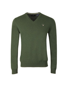 Gant Mens Green V-Neck jumper