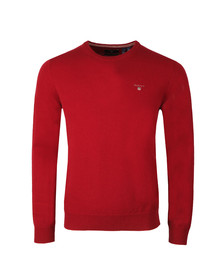 Gant Mens Red Crew Neck Jumper
