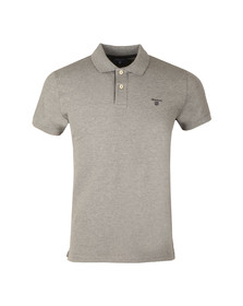 Gant Mens Grey Contrast Collar S/S Polo