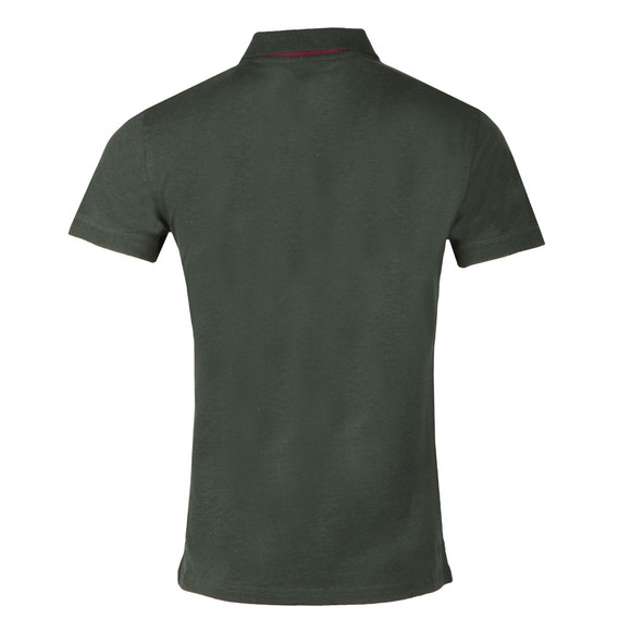 Gant Mens Green Contrast Collar S/S Polo main image
