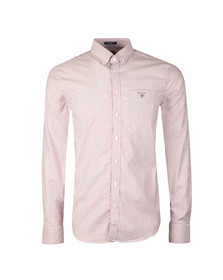 Gant Mens Pink Stretch Oxford Stripe LS Shirt