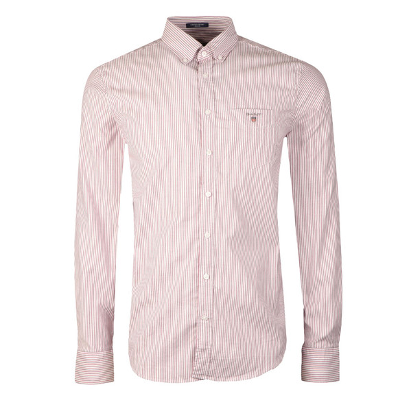 Gant Mens Pink Stretch Oxford Stripe LS Shirt main image