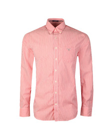 Gant Mens Red Poplin Bankers Stripe Shirt