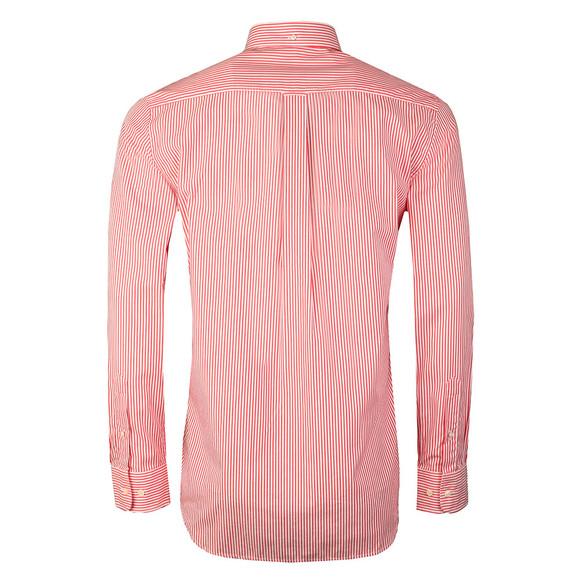 72d648b15a Gant Mens Red Poplin Bankers Stripe Shirt main image