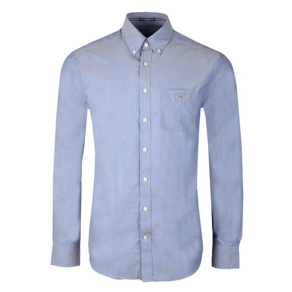 Gant Mens Blue Plain Broadcloth Shirt main image