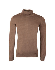J.Lindeberg Mens Brown Lyd True Merino Turtle Neck