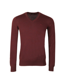 J.Lindeberg Mens Red Lymann Merino Knit Jumper