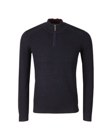 Ted Baker Mens Blue L/S Knitted Funnel Neck