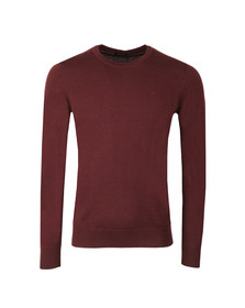 J.Lindeberg Mens Red Lyle Merino Knit Jumper