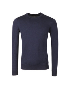 J.Lindeberg Mens Blue Lyle Merino Knit Jumper
