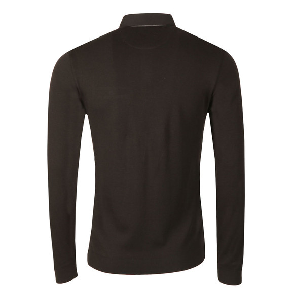Ted Baker Mens Black Woolpak LS Mouline Polo main image