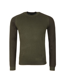 Ted Baker Mens Green Pepmint LS Herringbone Detail Crew Jumper