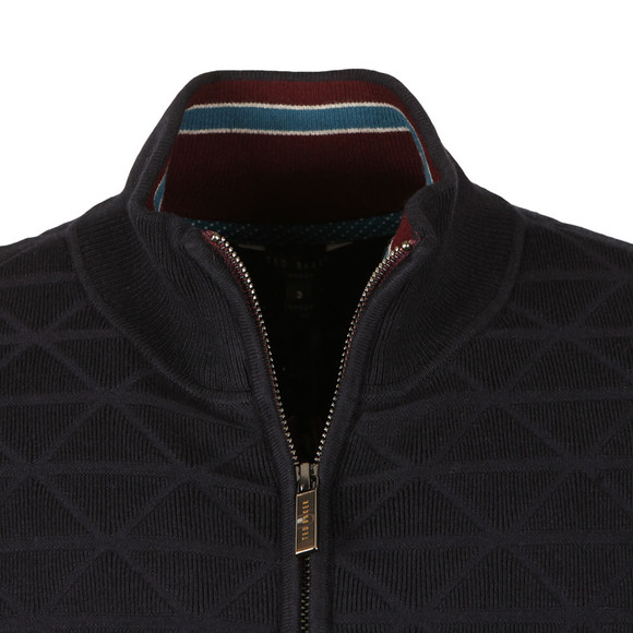 Ted Baker Mens Blue Delgado Geo Jacquard Funnel Neck main image