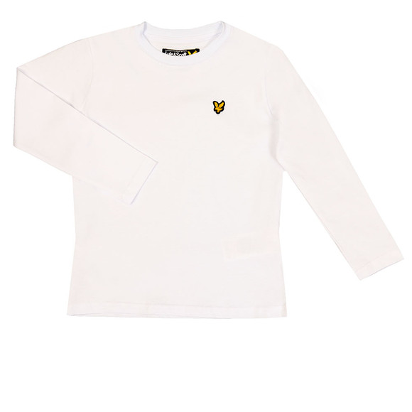 Lyle And Scott Junior Boys White Classic Long Sleeve T Shirt main image