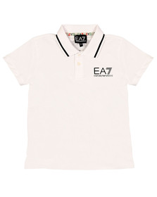 EA7 Emporio Armani Boys White Tipped Polo Shirt
