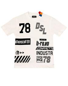 Diesel Boys White Boys Tangx T Shirt