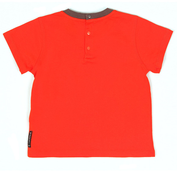 Armani Baby Boys Orange 6YHT01 Small Logo T Shirt main image