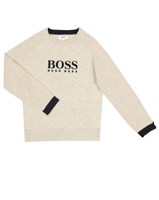 Boss Boys Grey Large Logo Jumper