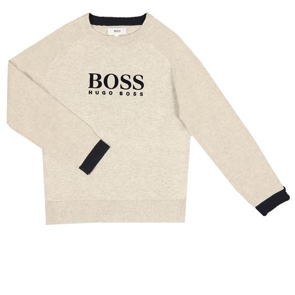 Boss Boys Grey Large Logo Jumper main image