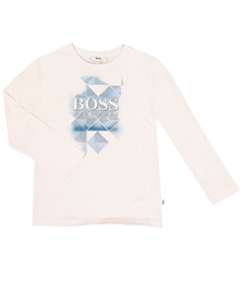 Boss Boys White J25B21 T Shirt